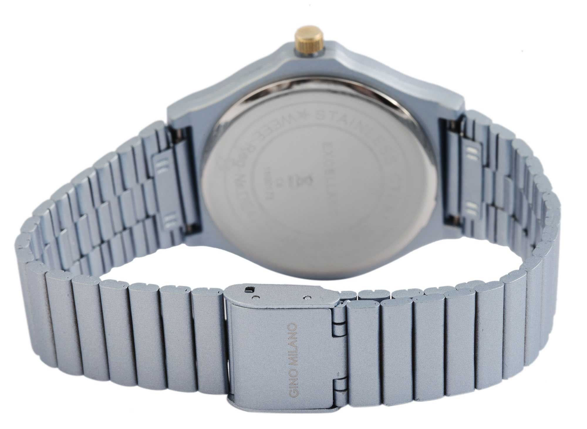 Damenuhr Armbanduhr Excellanc analog Uhr hellblau