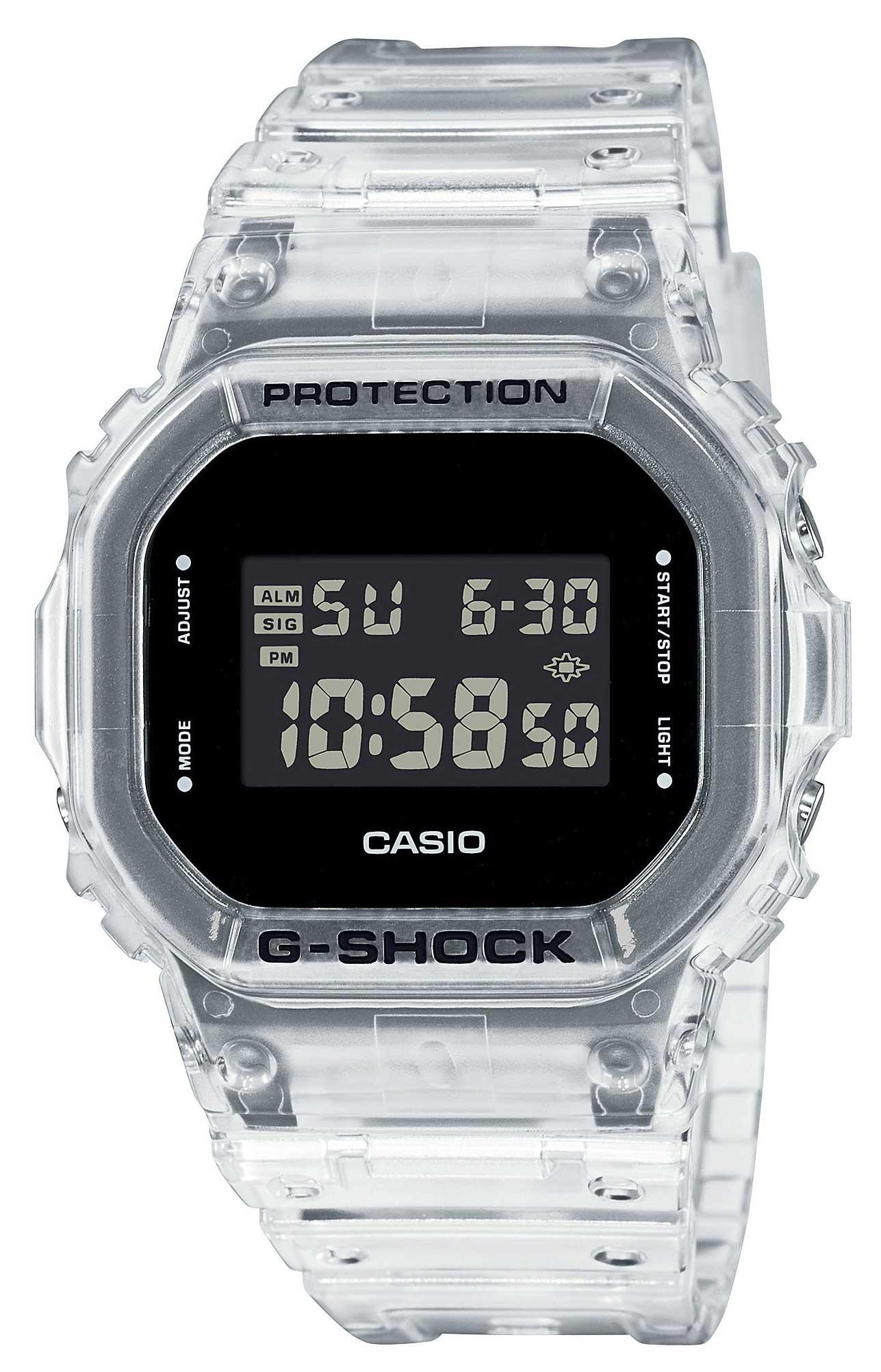 Casio Uhr G-Shock Armbanduhr DW-5600SKE-7ER