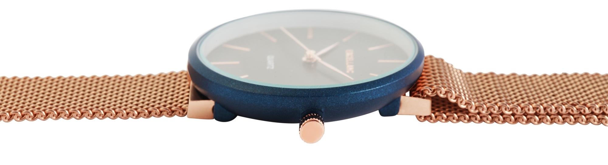 Damenuhr Excellanc Armbanduhr Meshband Magnetverschluss Rose schwarz