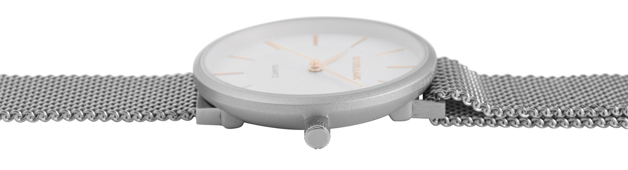 Damenuhr Excellanc Armbanduhr Meshband Magnetverschluss silber