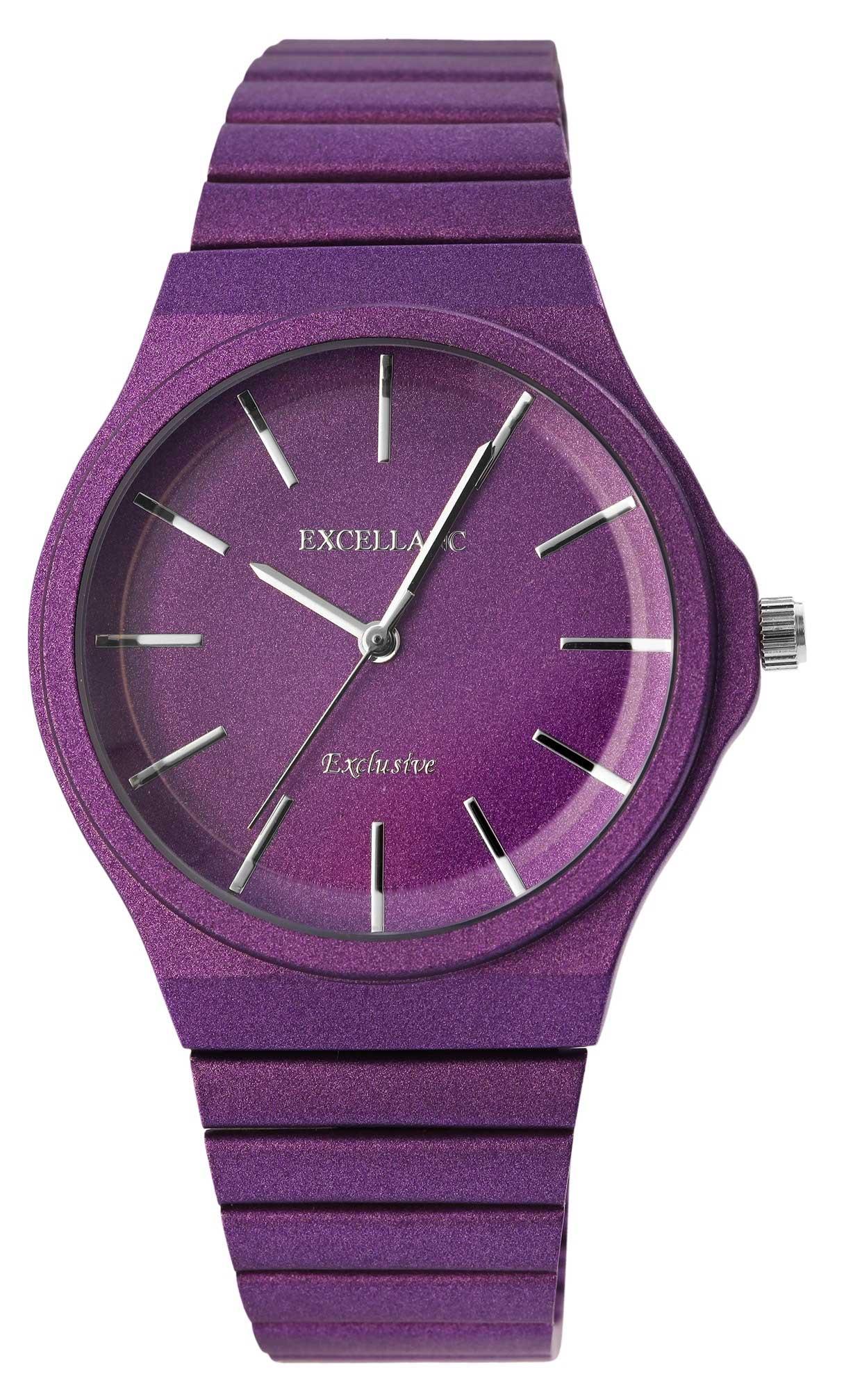 Damenuhr Armbanduhr Excellanc analog Uhr Lila