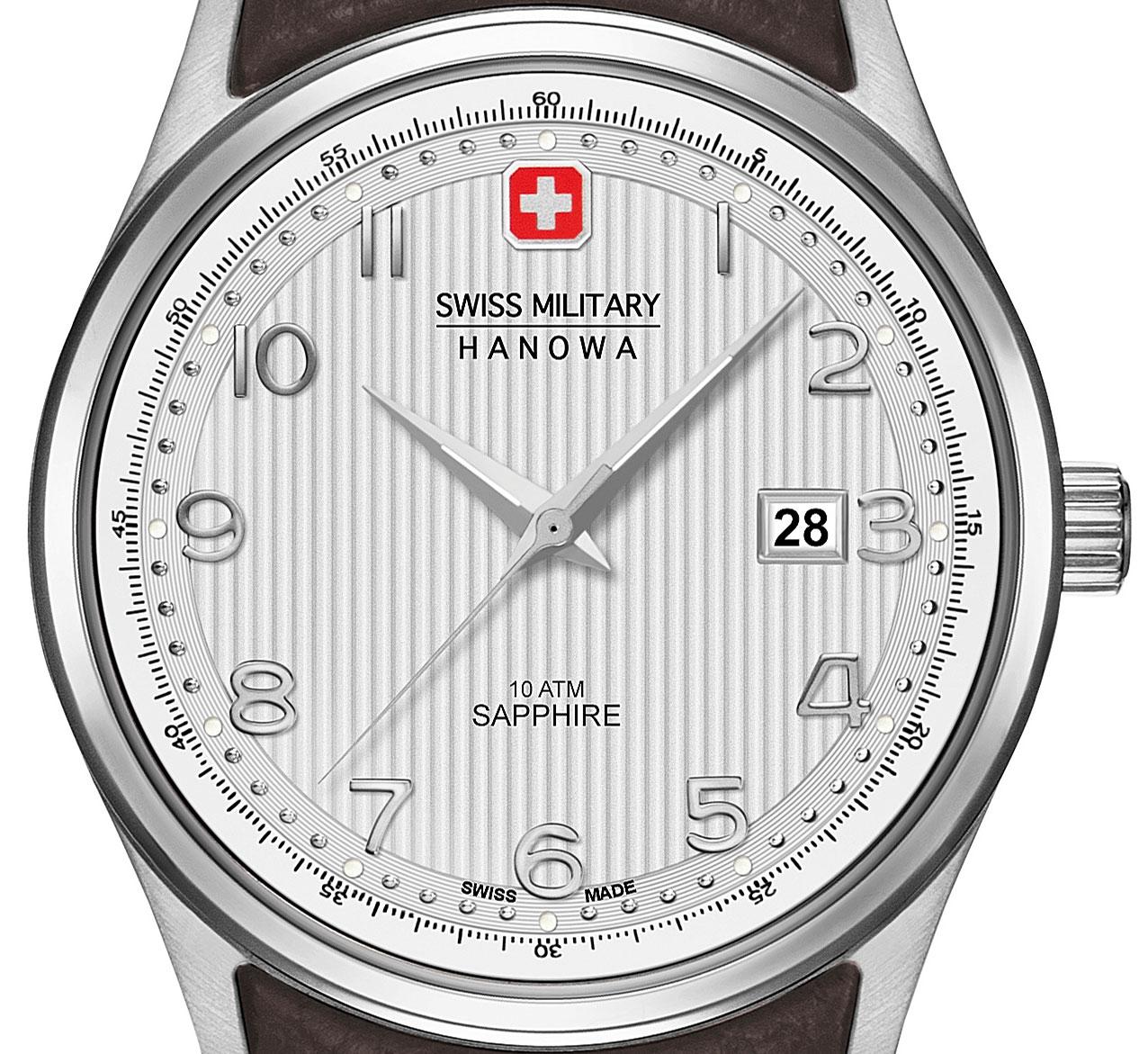 Swiss Military Hanowa Herren Armbanduhr Saphirglas 06-4286.04.001